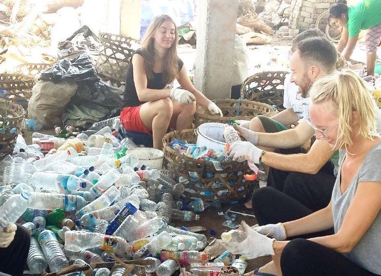 Bank Sampah recycling on Gili Trawangan